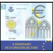 España Spain Prueba de lujo 98 2009 X Aniversario del Euro