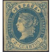 España Spain 57 1862 Isabel II MNH