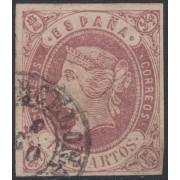 España Spain 60 1862 Isabel II Matasello Fechador Barcelona