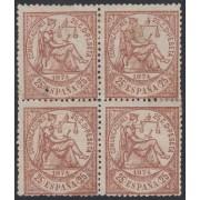 España Spain 147 Bl.4 1874 Alegoría