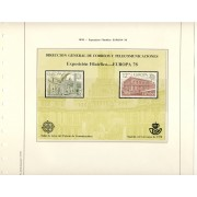 España Spain Hojitas Recuerdo 59 1978 FNMT Dirección General de Correos y Telecomunicaciones Europa 78
