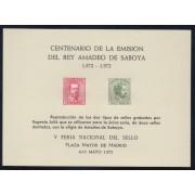 España Spain Hojitas Recuerdo 1 1972 FNMT Centenario de Emisión del Rey Amadeo de Saboya