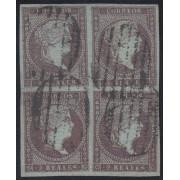 España Spain 42 1855 ISABEL BL. 4