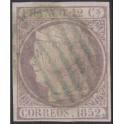 España Spain 13 1852 Isabel II Parrilla azul