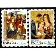 España Spain 3955/56 2002 Navidad MNH