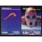 España Spain 3989/90 2003 Campeonatos del Mundo de Natación Barcelona, lujo MNH