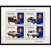 España Spain 3996 2003 C Años del Real Automóvil Club de España  R.A.C.E., lujo MNH