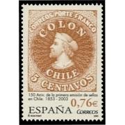 España Spain 3997 2003 CL Aniversario de la primera emisión de sellos de Chile, lujo MNH
