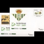 Sobres Enteros Postales 116/17 2007 Exposición Centenario del Real Betis Sevilla Fútbol