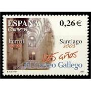España Spain 4011 2003 CXXV Diario El Correo Gallego, lujo MNH