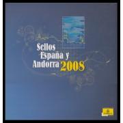 Libro Album Oficial de Sellos España y Andorra 2008