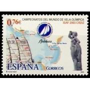 España Spain 4014 2003 Campeonatos del Mundo de Vela Olimpica ISAF 2003, lujo MNH