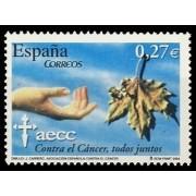 España Spain 4062 2004 L Aniversario de la Asociación Española contra el Cancer, lujo MNH