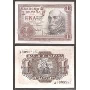 España Billete 1 peseta  22 julio 1953 Marques de Sta. Cruz  SC