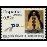 España Spain 4077 2004 L Años de la Ingenieria Técnica de Obras Públicas Ingeniería, lujo MNH