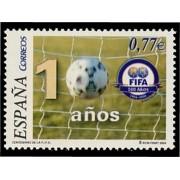 España Spain 4082 2004 Centenario de la Federación Internacional de Fútbol Asociación FIFA, lujo MNH
