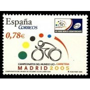 España Spain 4184 2005 Campeonatos del mundo de ciclismo en carretera, lujo MNH