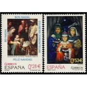 España Spain 4194/95 2005 Navidad, lujo MNH