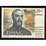 España Spain 4281 2006 V Centenario del nacimeinto de San Francisco Javier, lujo MNH