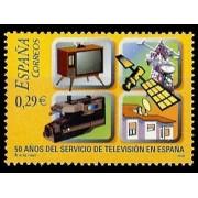 España Spain 4282 2006 L Aniversario del Servicio de TVE , lujo MNH