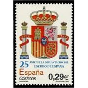 España Spain 4284 2006 XXV Aniversario Escudo de España, lujo MNH