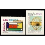 España Spain 4310/11 2007 Ciencia, lujo MNH