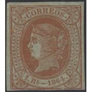 España Spain 67 1864 Isabel II MH