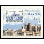 España Spain 4321 2007 Exposición Filatélica Nacional Exfilna 2007, lujo MNH