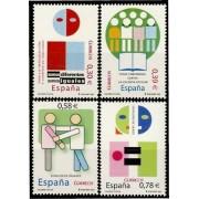 España Spain 4333/36 2007 Valores cívicos, lujo MNH