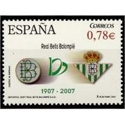 España Spain 4341 2007 Cent. Real Betis Balompié MNH