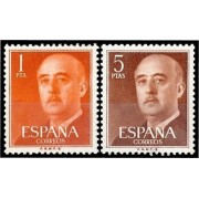 España Spain 1290/91 1960 Efigie de Franco FNMTB Barcelona MNH