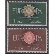 España Spain 1294/95 1960 Europa-CEPT Lujo MNH