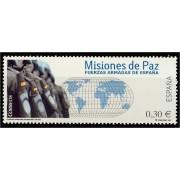 España Spain 4343 2007  Fuerzas Armadas en Misiones de Paz, lujo MNH