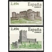 España Spain 4349/50 2007 Castillos, lujo MNH