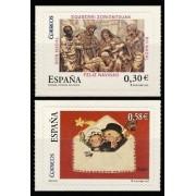 España Spain 4355/56  2007 Navidad, lujo MNH