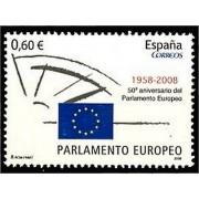 España Spain 4401 2008 L Aniversario  Parlamento Europeo, lujo MNH