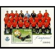 España Spain 4429 2008 Selección Española de Fútbol campeona de Europa 2008, lujo MNH