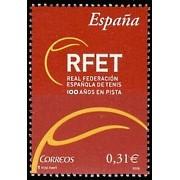 España Spain 4433 2008 Centenario de la Real Federación Española Tenis, lujo MNH