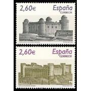 España Spain 4439/40 2008 Castillos, lujo MNH