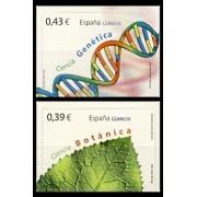 España Spain 4455/56 2009 Ciencia, lujo MNH