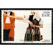 España Spain 4485/86 2009 Bailes y danzas populares, lujo MNH
