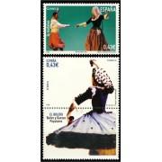 España Spain 4489/90 2009 Bailes y danzas populares, lujo MNH
