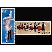 España Spain 4492/93 2009 Bailes y danzas populares, lujo MNH