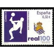 España Spain 4504 2009 Centenario de la Real Sociedad de fútbol S.A.D., lujo MNH