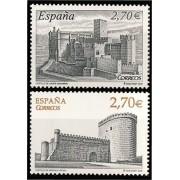 España Spain 4510/11 2009 Castillos, lujo MNH