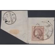 España Spain 56 1860 - 1861 Isabel II Sobre Fragmento