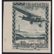España Spain NE 38s 1939 No Emitido No Expendido Avión Plane Sin goma