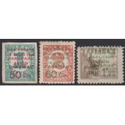 España Spain Canarias 8/10 Aéreo 1937 Cifras Numbers MH