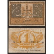 Billetes local 1937  Ajuntament de Manresa 1 Peseta