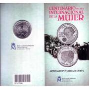 España Spain 2011 Cartera Oficial Moneda 20 euros € Clara Campoamor Día de la Mujer Plata FNMT